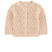 Openwork cardigan with lurex