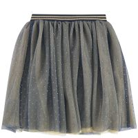 Half-length tulle skirt